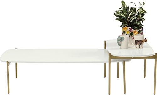 Kare Miami Gardens (2/Set) Couchtisch, Andere, Weiß, 77 x 109 x 34 cm