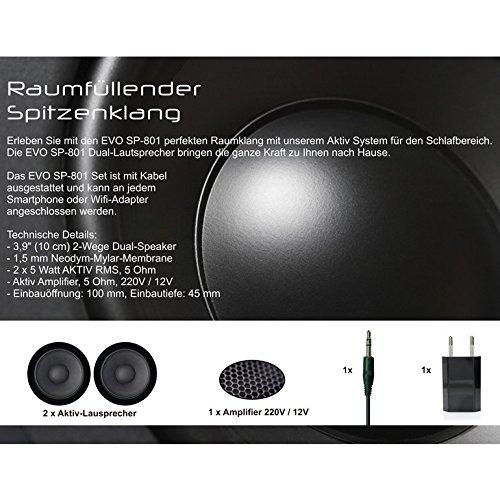 Innocent Polsterbett aus Kunstleder weiß 180x200cm mit LED und Lautsprecher Zarina mit Matratze