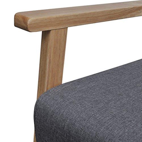 vidaxl retro holz lehnstuhl relaxsessel esszimmer stuhl sessel polstersessel grau m bel24. Black Bedroom Furniture Sets. Home Design Ideas