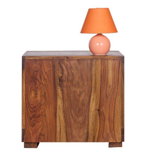 wohnling sheesham massiv holz couchtisch 50 x 50 cm wohnzimmer tisch design dunkel braun. Black Bedroom Furniture Sets. Home Design Ideas