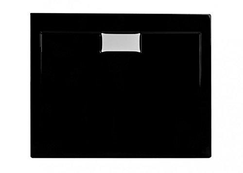 duschwanne aus acryl schlagfest duschtasse in schwarz inkl ablaufgarnitur abmessungen l120. Black Bedroom Furniture Sets. Home Design Ideas