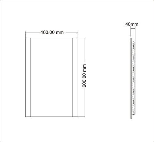 Design Badspiegel mit LED-Beleuchtung GS043N Lichtspiegel Wandspiegel Tageslichtweiß IP44 (40 x 60 cm)