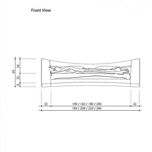 Seducce Designerbett 140x200 cm Doppelbett / Futonbett / Bett / Polsterbett Kunstleder schwarz