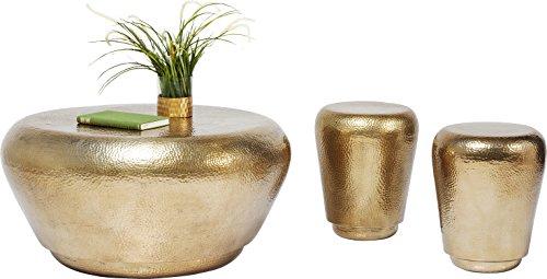 Kare Hocker Antico Brass (3/Set) Couchtisch, Andere, Gold, 82 x 82 x 40 cm