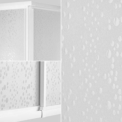 TecTake Duschkabine Duschabtrennung Eckeinstieg | Rostfreier Aluminiumrahmen | 2 Schiebetüren aus Kunststoff | (LxBxH): 90 x 90 x 185 cm