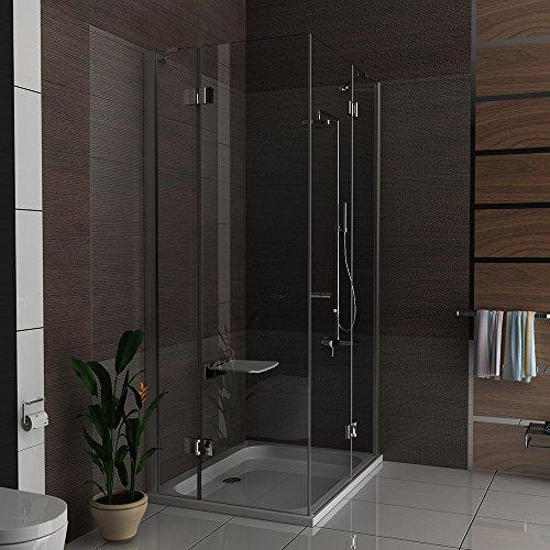 hochwertige eckeinstieg duschkabine mit nano beschichtung aus esg glas 90x120 cm dreht r mit. Black Bedroom Furniture Sets. Home Design Ideas