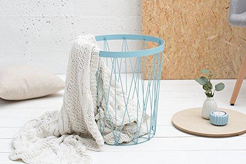 moderner couchtisch beistelltisch storage ii blau mit holzdeckel korb aufbewahrung tisch mit. Black Bedroom Furniture Sets. Home Design Ideas