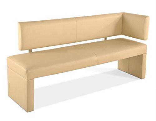 SAM® Sitzbank SANDRA Ottomane 170 cm creme robust pflegeleicht exklusiv