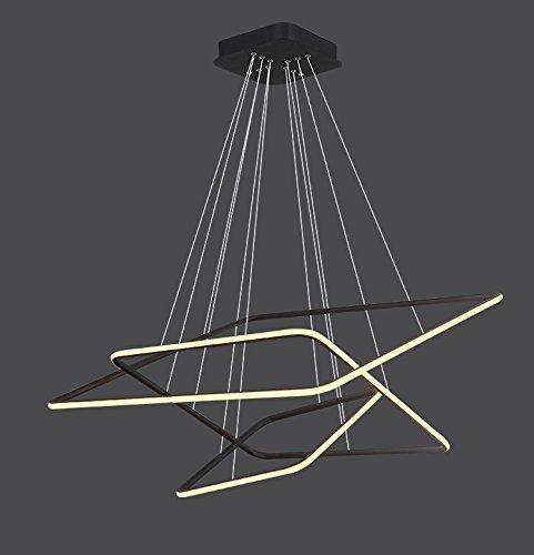 Saint Mossi® Exklusiv Entwurf Modern Hängelampe Pendelleuchte Kronleuchter Lüster LED Deckenleuchte Drei Stufe Leuchter Aussehen Einstellbar LED Lichtquelle Integriert Wohnzimmerlampe Schlafzimmerleuchte Innenleuchte