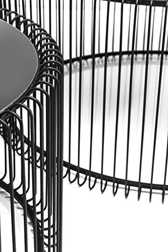 Kare 79577 Couchtisch Wire, 2-er Set, schwarz