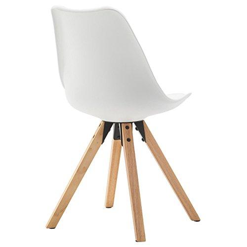 4er Set Esszimmerstuhl Küchenstuhl Stuhlgruppe Essstuhl Stuhl TYSON Kunststoff weiß