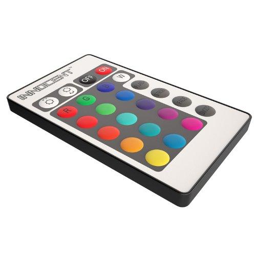 Innocent Polsterbett 180x200cm schwarz/weiß LED-Beleuchtung Farbwechsel Seducce