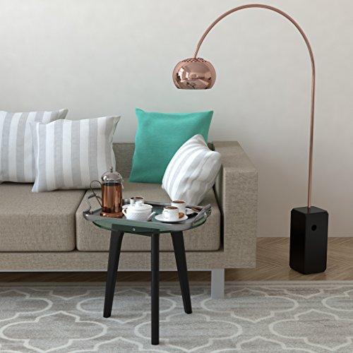 ausverkauf bonvivo design couchtisch filippa beistelltisch im retro look mit glasplatte und. Black Bedroom Furniture Sets. Home Design Ideas