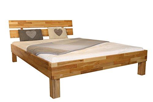 Bett PALMA, Größe 100x200, Buche Massivholz, von MeinMassivholz - Made in Germany, Kostenlose Lieferung zum Wunschtermin