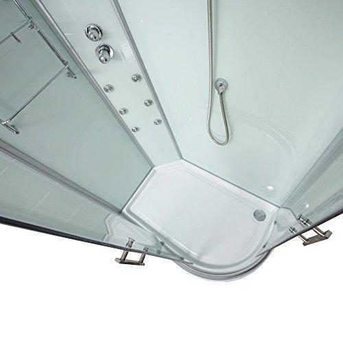 Home Deluxe Poseidon Duschtempel   inkl. komplettem Zubehör   verschiedene Ausführungen   120x80cm rechts