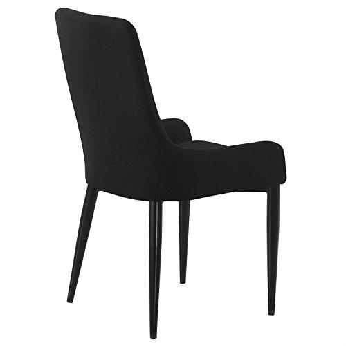 4er Set Esszimmerstuhl Küchenstuhl Stuhlgruppe Essstuhl Stuhl KYLIE Stoff schwarz