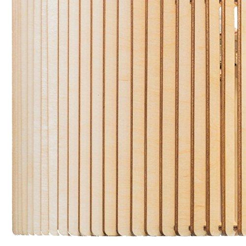 Hängeleuchte BARRIL - Pendelleuchte aus Holz - Moderne Designer Hängelampe - viele Farben / zwei Größen erhältlich - WEISS