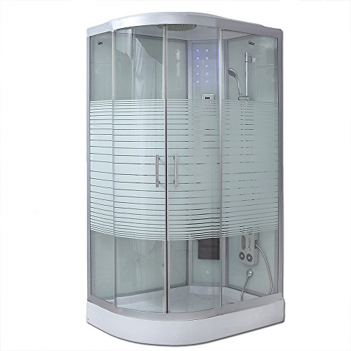 Home Deluxe White Pearl 120x80 cm links Duschtempel, inkl. komplettem Zubehör