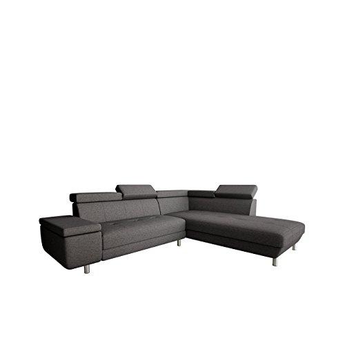 OUTLET !! Polsterecke Meriva Ecksofa Eckcouch! einstellbare Kopfstützen! L-Form Couch Couchgarnitur! Wohnlandschaft, BLACK FRIDAY!! (Boss 12, Seite: Rechts)