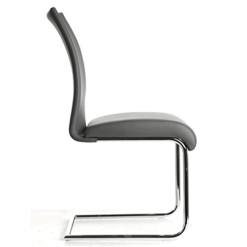 Esszimmerstuhl Schwingstuhl ALADINO, Set mit 4 Stühlen chrom/grau