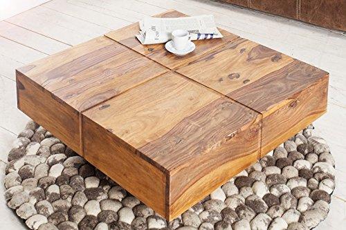 Invicta Interior 36335 Couchtisch Bolt, 80 cm, Sheesham