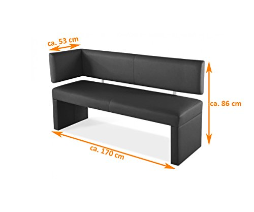 sam esszimmer ottomane lascarlett 170 cm braune wildlederoptik sitzbank mit r ckenlehne aus. Black Bedroom Furniture Sets. Home Design Ideas