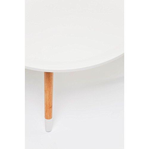 KARE Design Couchtisch, 70 cm, Blüten Weiß