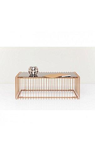 Kare Design – Couchtisch 115 cm kupfer und Spiegel Wire