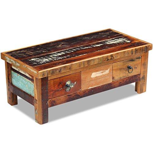 vidaXL Couchtisch Beistelltisch Kaffeetisch Wohnzimmer Sofatisch Massivholz Retro Antik