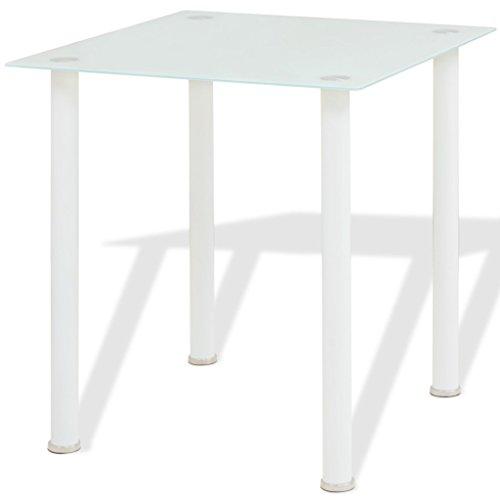 vidaXL 3tlg. Sitzgruppe Essgruppe Tischset Esszimmer Esstisch Stühle Kunstleder Weiß