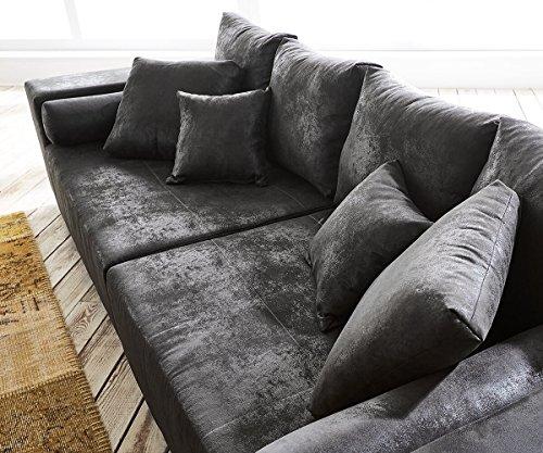 bigsofa marbeya anthrazit 285x115 cm antik optik inklusive hocker big sofa m bel24. Black Bedroom Furniture Sets. Home Design Ideas