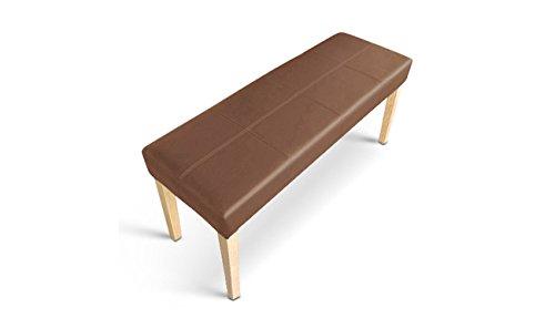 SAM® Esszimmer Design Sitzbank Enzio -9 in cappuccino farben mit buche farbigen Beinen aus Pinienholz Sitzfläche mit Ziernaht angenehme Polsterung 110 cm Länge