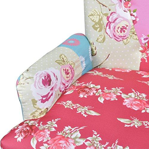 vidaxl patchwork relaxsessel esszimmer stuhl polstersessel sessel bunt lehnstuhl 2 m bel24. Black Bedroom Furniture Sets. Home Design Ideas