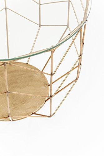 Kare Wire Grid Brass (3/Set) Couchtisch, Andere, Gold, 70 x 70 x 55 cm