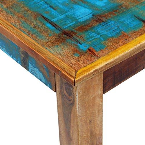vidaXL Couchtisch Kaffeetisch Wohnzimmer Sofatisch Beistelltisch Massivholz Antik Retro