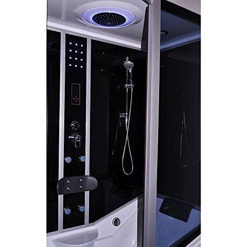 Home Deluxe ALL IN 4in1 schwarz links Duschtempel, inkl. Dampfsauna und komplettem Zubehör
