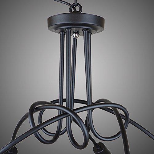 Weare Home 5-Birnen Schwarz Retro-Pendelleuchten und Deckenleuchten für Restaurants oder Küchen