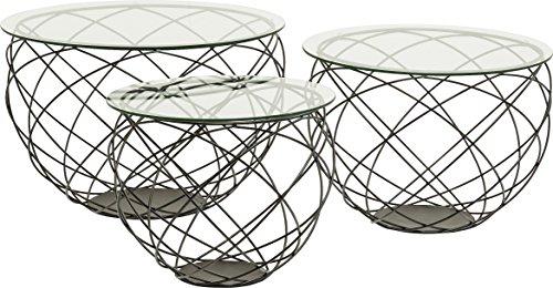 Kare Wire Grid (3/Set) Couchtisch, Andere, Schwarz, 70 x 70 x 47 cm