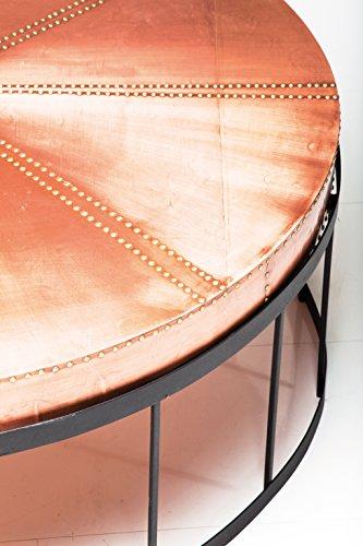 Kare 78001 Couchtisch Rivet Copper Durchmesser 102 cm