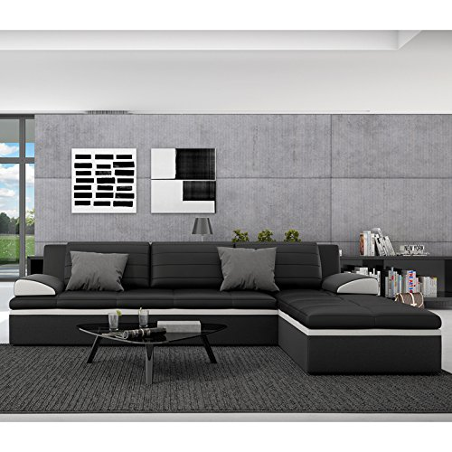 innocent ecksofa mit schlaffunktion aus kunstleder schwarz. Black Bedroom Furniture Sets. Home Design Ideas