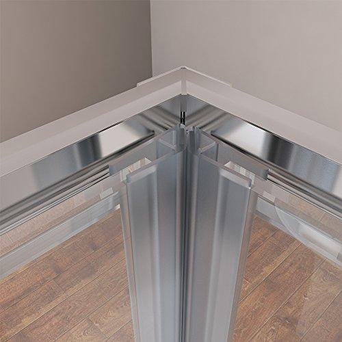 900x900x1950mm Duschkabine Eckeinstieg Doppel Schiebetür Echtglas Duschwand