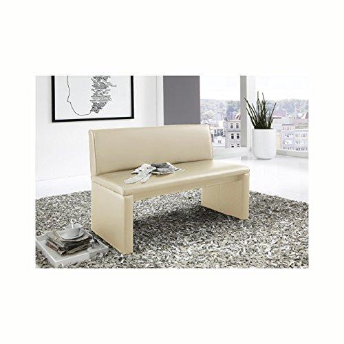 SAM® Esszimmer Sitzbank, 100 cm Breite, in creme, Sitzbank mit Rückenlehne aus Samolux®-Bezug, angenehmer Sitzkomfort, frei im Raum aufstellbare Bank [521356]