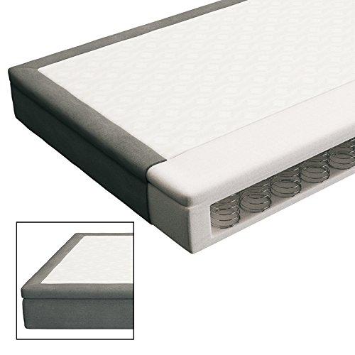 Innocent Polsterbett aus Kunstleder weiß schwarz 180x200cm mit LED und Lautsprecher Riffina Boxspringbett