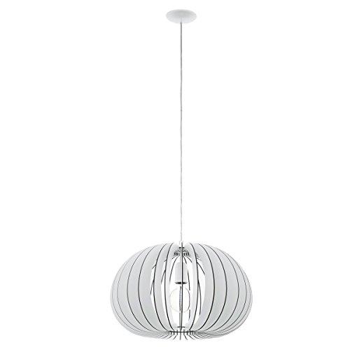 Licht-Trend Rift L Pendelleuchte mit Holzschirm Ø 45 cm weiss