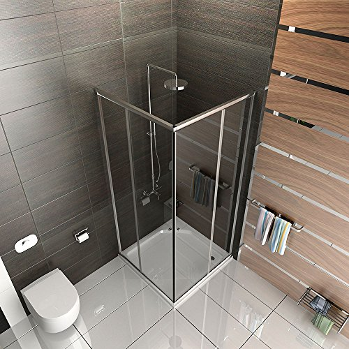 duschabtrennung mit rahmen dusche duschkabine 100x100 alpenberger echtglas eckeinstieg. Black Bedroom Furniture Sets. Home Design Ideas