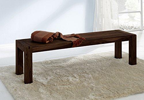 SAM® Bank Yoga 6537 aus Sheesham Palisander in walnuss Sitzbank 160 x 40 cm natürliches Design