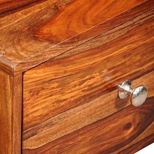 vidaXL Sheesham Massivholz Nachttisch Beistelltisch 1 Schublade Vintage 55 cm