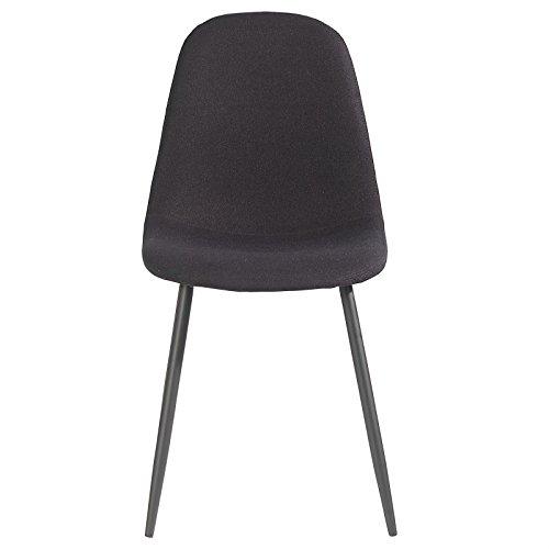 4er Set Esszimmerstuhl Küchenstuhl Stuhlgruppe Essstuhl Stuhl BRIT Stoff schwarz