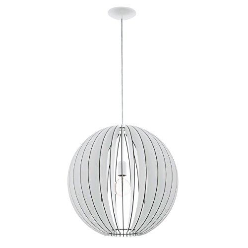 Licht-Trend Rift XL / Hängeleuchte mit Holzschirm / Ø 50 cm / weiss