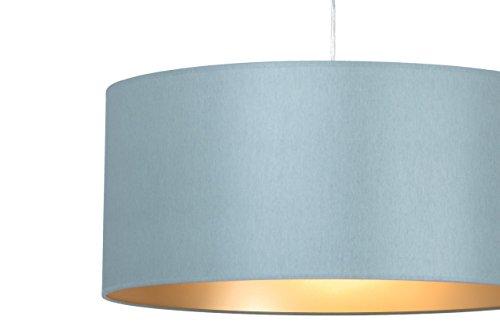 Klassische Hängelampe | Hochwertige Hängeleuchte | Grau Gold | XXL | Pendelleuchte | Lampe | Wohnzimmer | Esszimmer | Schlafzimmer | Küche | Ø 55cm | Schirm Rund | Modern | LED geeignet | dimmbar | 2x E27 Fassung